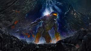 Armor Halo Halo 4 Warrior Weapon 1920x1080 Wallpaper