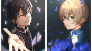 Anime Boys Closed Eyes Sword Art Online Sword Art Online Alicization Eugeo Tears Kirigaya Kazuto 2814x1855 Wallpaper