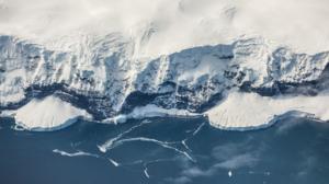 Nature Landscape Aerial Mountains Sea Snow Aerial View Antarctica Indian Ocean 1920x1080 wallpaper