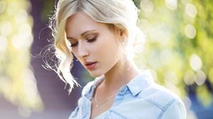 Blonde Bokeh Depth Of Field Girl Model Mood Short Hair Woman 1920x1080 Wallpaper