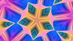 Colors Pattern Pink Blue Star 1920x1080 Wallpaper