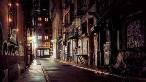 Street City Cityscape Urban Night Photography New York City 3840x2160 Wallpaper