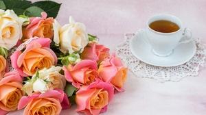Bouquet Cup Flower Rose Tea 5472x3648 Wallpaper