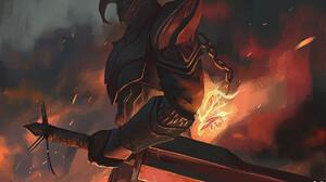 Armor Knight Magic Sword Warrior 1920x1188 Wallpaper