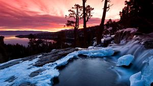 Cloud Fall Forest Lake Landscape Reflection River Scenic Sky Stream Sunrise Sunset 1920x1200 Wallpaper