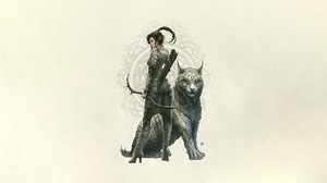 Archer Elf Girl White Tiger Woman Warrior 2500x1280 wallpaper