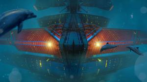 Sea Underwater Dolphin 3840x2400 Wallpaper