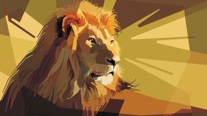 Artistic Geometry Lion 5000x3000 Wallpaper