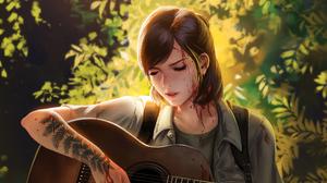 Artwork Ellie Williams The Last Of Us The Last Of Us 2 Digital Art Fan Art Digital Painting Guitar T 3840x2160 Wallpaper