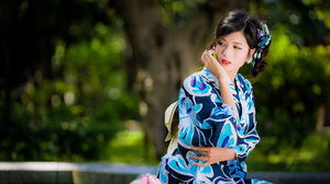 Asian Black Hair Depth Of Field Girl Lipstick Model Woman 4562x3043 wallpaper