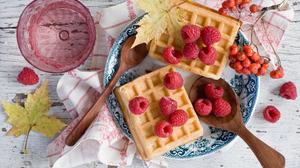 Berry Currants Raspberry Still Life Waffle 2000x1331 Wallpaper