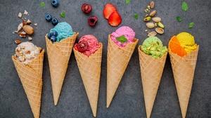 Ice Cream Still Life Waffle Cone 5485x3428 wallpaper