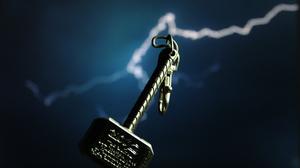 Thor Mjolnir Lightning Artwork Keychain Keyrings 2000x1333 Wallpaper