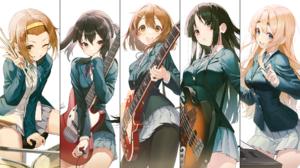 Anime Anime Girls K ON Pro P Band Hirasawa Yui Akiyama Mio Kotobuki Tsumugi Nakano Azusa Tainaka Rit 1920x1080 Wallpaper