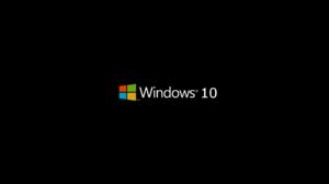 Windows 10 Microsoft Minimalism Simple Logo Operating System Black Background Brand 1920x1080 Wallpaper