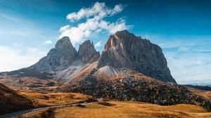 Italy Nature Mountains Sky Road Dolomites Mountains Dolomite Alps 3840x2160 Wallpaper