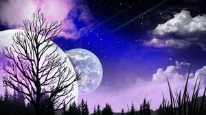 Night Planet Starry Sky 3508x2479 Wallpaper