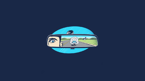 Simple Mario Kart Blue Shell Video Games Rearview Mirror Humor Blue Background 1680x1050 wallpaper