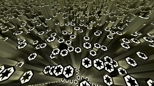 3d Black Blender Digital Art Hexagon Star Stars White 1920x1080 Wallpaper