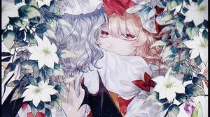 Anime Anime Girls Touhou Flandre Scarlet Flowers Remilia Scarlet Blonde Long Hair Wings Red Eyes 2700x1910 Wallpaper