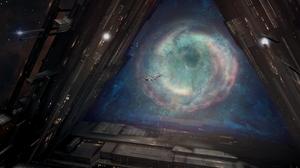 Infinite Lagrange Lagrange Gate Galaxy Space Stars Spaceship 3840x2160 Wallpaper