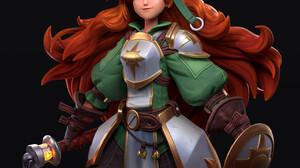 Francisco Viloria Fantasy Art Women Redhead Simple Background Black Background Long Hair Fantasy Gir 2800x3000 Wallpaper