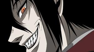 Vampire Anime Hellsing Anime Face Orange Eyes Anime Men 1920x1075 wallpaper