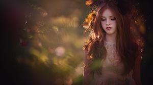 Lipstick Redhead Long Hair Depth Of Field 2000x1335 Wallpaper