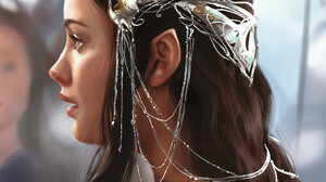 Astri Lohne Digital Art Artwork Drawing Arwen Fictional Character The Lord Of The Rings Elves Elf Ea 1080x1484 wallpaper