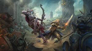 Anduin Wrynn Blizzard Entertainment Sylvanas Windrunner World Of Warcraft Battle For Azeroth 1920x1152 Wallpaper