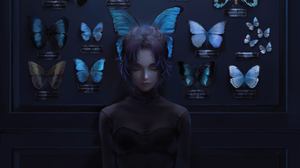 Artwork Women Butterfly Kimetsu No Yaiba Kochou Shinobu Nixeu 6000x3406 wallpaper
