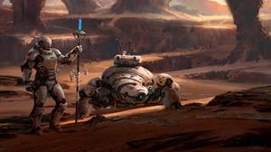 Exploration Futuristic Robot Warrior 1920x1091 wallpaper