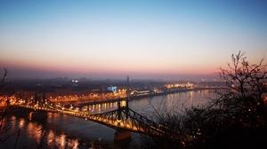 Budapest Danube Hungary Liberty Bridge Budapest Sunrise 7296x5472 wallpaper
