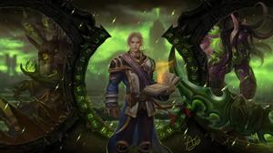 Illidan Stormrage World Of Warcraft Legion Guldan Anduin Wrynn Video Games 6000x3375 Wallpaper