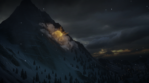 Dragon Age Inquisition Dragon Age Dark Blue Landscape Hill Trees Clouds PC Gaming Snow 2542x1436 Wallpaper
