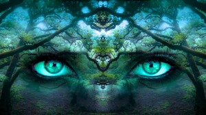 Artistic Blue Eyes Eye Fantasy Sky 6500x2800 Wallpaper