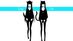 Dog Cat Girl 2800x1750 Wallpaper