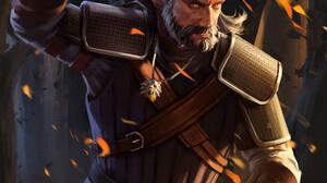 Portrait Display Fire White Hair Geralt Of Rivia Fan Art Artwork The Witcher 3 Wild Hunt Digital Art 1920x2548 Wallpaper