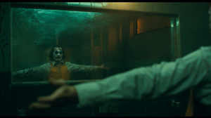Joker 2019 Movie Joker Joaquin Phoenix Men Film Stills Movies DC Comics Makeup Mirror Reflection 1920x1080 Wallpaper