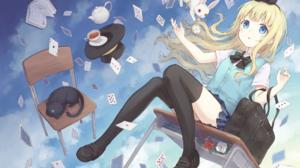 Alice Alice In Wonderland Cat Girl 2600x1840 Wallpaper