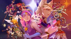 Riot Games League Of Legends Star Guardian Lux League Of Legends Star Guardian Ahri Star Guardian Ez 1920x1080 Wallpaper