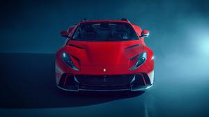 Ferrari Ferrari 812 GTS Red Cars Supercars Italian Supercars Car Vehicle Mist Spotlights Shadow 5120x2880 Wallpaper