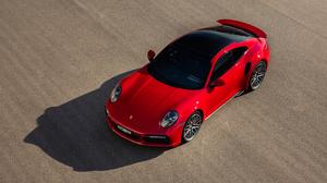 Porsche 911 Porsche Turbo Porsche Red Cars Sports Car High Angle Shadow Vehicle Car 3840x2160 Wallpaper