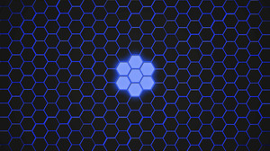 Artistic Blue Digital Art Hexagon Pattern 3200x2400 Wallpaper