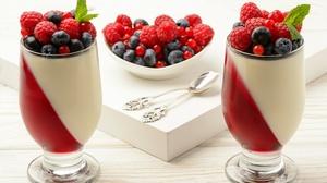 Berry Blueberry Currants Dessert Fruit Raspberry Still Life 4665x3105 Wallpaper