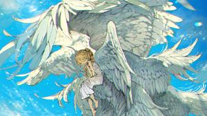 Anime Anime Girls Original Characters Angel Wings DemizuPosuka Vertical 1000x1406 Wallpaper