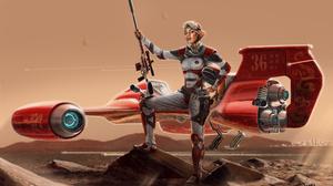 Bounty Hunter Sci Fi Star Wars 4000x2628 Wallpaper