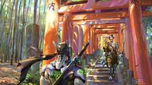Genji Overwatch Hanzo Overwatch 1920x1079 Wallpaper