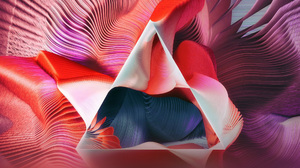 3d Colorful Spiral Swirl Triangle 2560x1440 Wallpaper