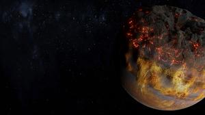 Space Planet Stars Digital Digital Art Blender Procedural Generation Dust Smoke Fire 2538x1080 Wallpaper